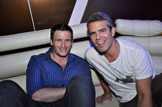 Andy Cohen parties at The Beatles' Revolution Lounge in the Mirage on Sunday, June 3, 2012.