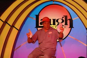 "Doug ""Lefty"" Leferovich entertains during Murray Sawchuck's grand-opening performance at The Laugh Factory in Tropicana Las Vegas on Monday, June 4, 2012."