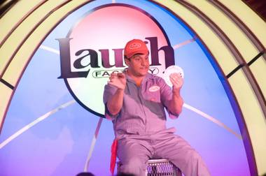 "Doug Leferovich plays ""Lefty"" in Murray Sawchuck's comedy show at The Laugh Factory at the Tropicana on June 4, 2012."