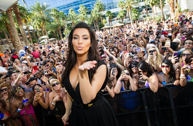 Kim Kardashian hosts at Rehab in the Hard Rock Hotel on Sunday, June 3, 2012.