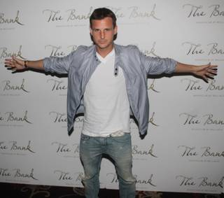 Rob Dyrdek celebrates his 38th birthday at the Bank in the Bellagio on Friday, July 6, 2012.