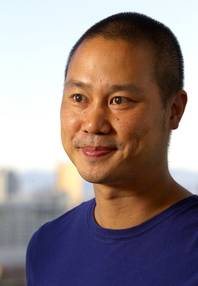 Tony Hsieh, CEO of Zappos.com, poses in the Ogden in downtown Las Vegas Thursday, June 7, 2012.