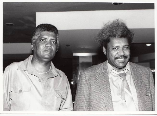 Duke Durden and Don King are seen together. Durden left the Nevada Athletic Commission to work for Don King Productions in the 80s.