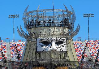 One of the stages is seen during a media preview of the Electric Daisy Carnival Thursday, June 7, 2012, at the Las Vegas Motor Speedway.