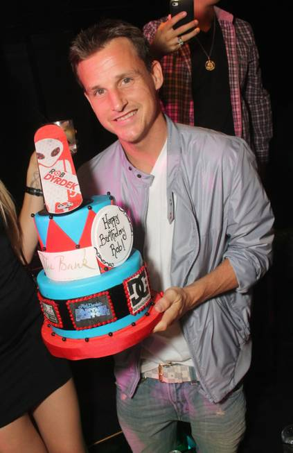 Rob Dyrdek celebrates his 38th birthday at the Bank in ...