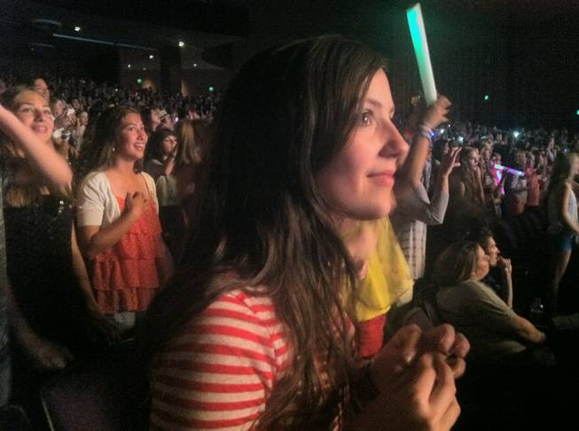 Thirteen-year-old Quincee Lark is captivated by One Direction during their show at Planet Hollywood's Theater for the Performing Arts on Saturday, June 9, 2012.