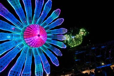The third and final night of the 2012 Electric Daisy Carnival at Las Vegas Motor Speedway on Sunday, June 10, 2012.