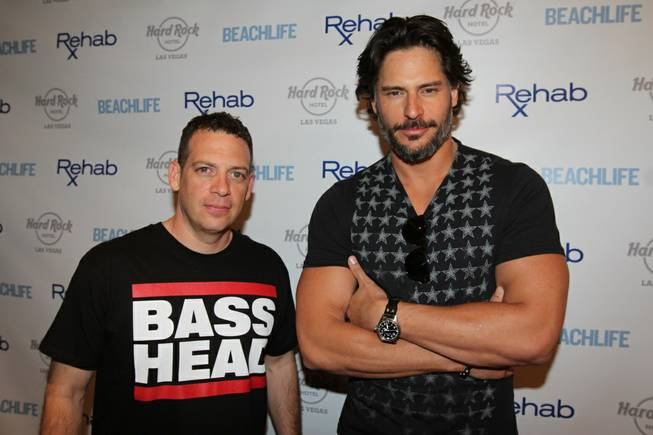 Joe Manganiello, right, with DJ Z-Trip, hosts at Rehab in ...