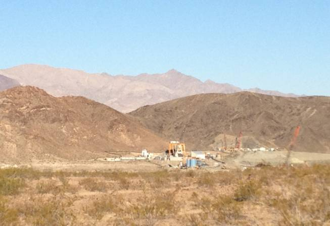 A person was killed Monday, June 11, 2012, in an accident at a work site near Lake Mead where workers are drilling a water intake.