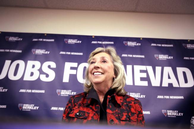 Dina Titus speaks during a primary election night party at the new Nevada Democratic Party Field Office in Henderson on Tuesday, June 12, 2012.
