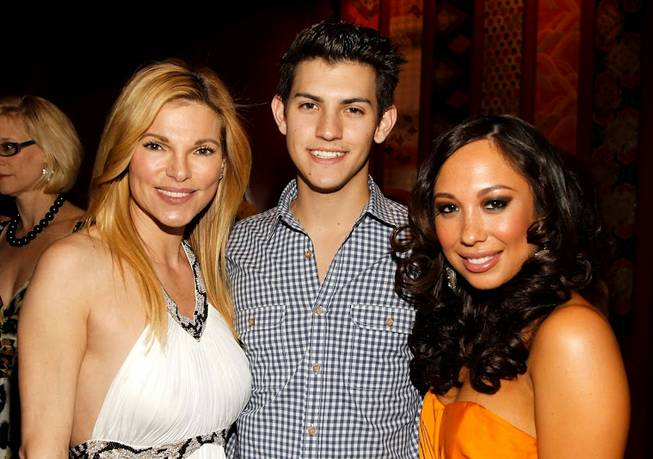 Andrea Wynn, her son Nick Hissom and Cheryl Burke at ...