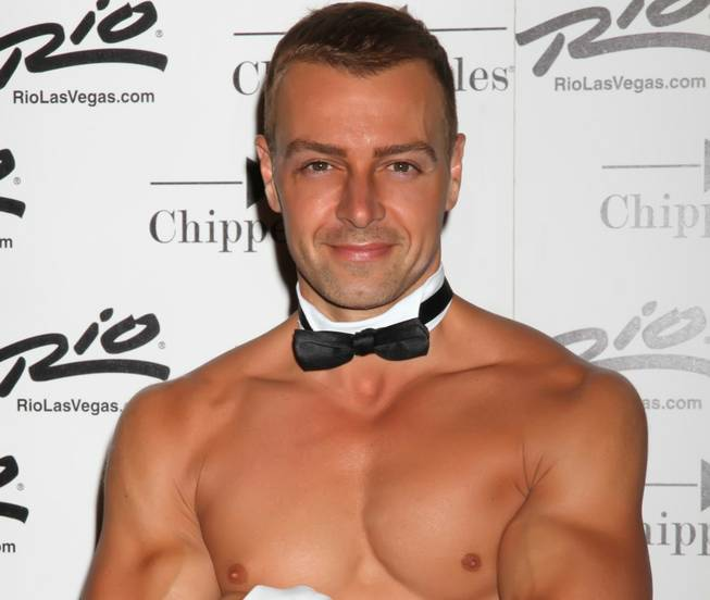 Joey Lawrence at Chippendales in the Rio on Friday, June 8, 2012.