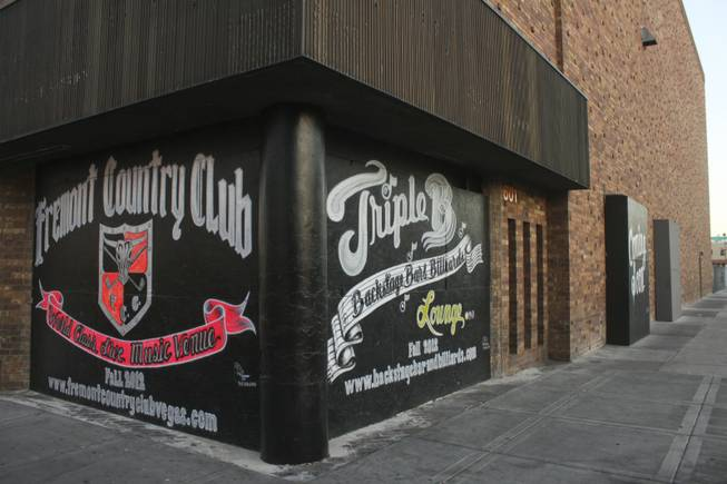 Shown are the coming soon signs on a building located at 601 E. Fremont St. across from El Cortez. It is set to be the future home of the Fremont Country Club, a music venue, and Triple B., a bar and billiard's lounge, as seen on Tuesday, June 19, 2012.