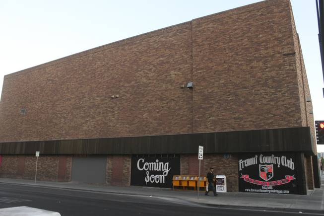 This building, at 601 E. Fremont St. across from El Cortez Casino, is set to be the future home of the Fremont Country Club, a music venue, and Triple B., a bar and billiard's lounge, as seen on Tuesday, June 19, 2012.