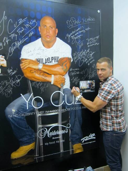 Joey Lawrence at Cafe Martorano in the Rio on Sunday, ...