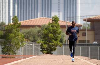 UNLV assistant coach Khadevis Robinson at the UNLV track Wednesday, June 13, 2012.