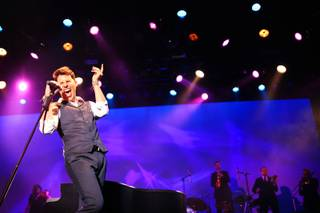 Frankie Moreno performs his 100th show at the Stratosphere on Wednesday, June 13, 2012.