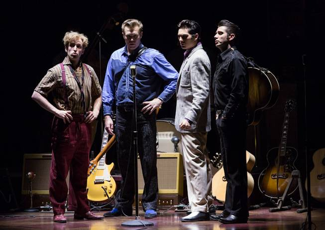 """Million Dollar Quartet"" at Reynolds Hall in the Smith Center for the Performing Arts on Tuesday, June 12, 2012."