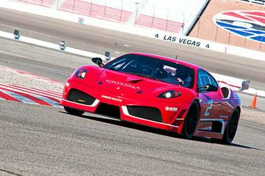 Dream Racing puts the client in the driver's seat of a Ferrari F430 GT race car located at Las Vegas Motor Speedway.