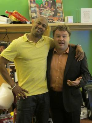 Finesse Mitchell and Frank Caliendo at The Laugh Factory in the Tropicana on Wednesday, June 13, 2012.