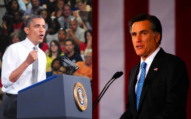 President Barack Obama, left, and Republican Mitt Romney, right, both are courting Hispanic voters as the 2012 presidential election approaches.