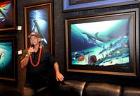 Wyland at his gallery in Planet Hollywood on Sunday, June 17, 2012.