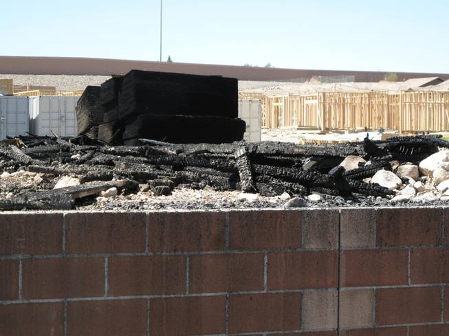 Fire crews responded to an early morning fire at 1131 Wigwam, the future site of Theory Apartments on Wednesday , June 20, 2012.