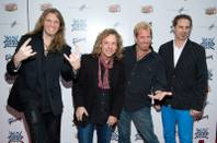 "Members of ""Night Ranger"" attend the Broadway opening night of ""Rock of Ages"" in New York, Tuesday, April 8, 2009."