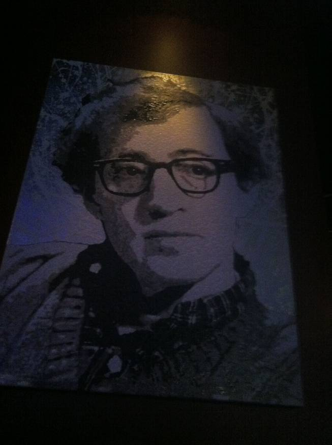 Woody Allen, shown in portraiture at Brad Garrett's Comedy Club at MGM Grand.