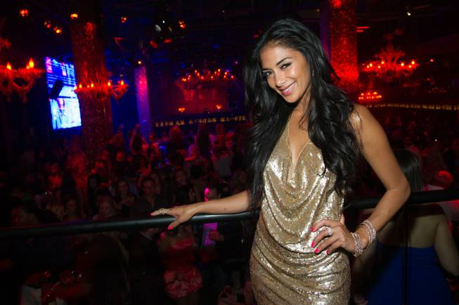 Nicole Scherzinger celebrates her 34th birthday at Tao in the ...