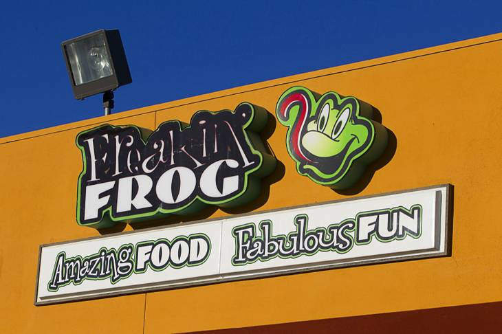 The exterior of the Freakin' Frog Cafe & Beer Bar, 4700 S. Maryland Parkway, Monday, June 25, 2012.