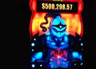 The Aladdin and the Magic Quest slot machine debuted in Las Vegas casinos in June 2012.  The progressive jackpots start at $500,000 on the penny slot.