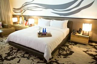 A view of a room at the new Nobu Hotel inside Caesars Palace, June 26, 2012.