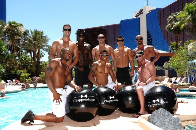 Members of Chippendales at Voo Pool at the Rio on Saturday, June 23, 2012.