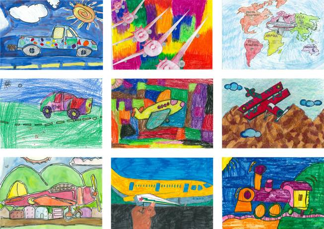 Nearly 33,000 elementary, middle and high school students from Clark County submitted vibrant depictions of planes, trains and automobiles as part of the Children's Art Program sponsored by the Clark County Department of Aviation, the Clark County School District and architecture firm PGAL. The county budgeted $5 million for Terminal 3 at McCarran Airport.