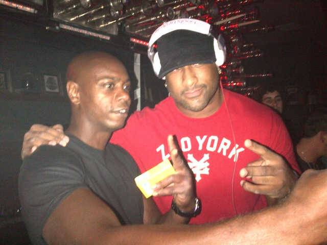 Dave Chappelle and DJ Derrick Anthony at Hyde Bellagio on Tuesday, June 26, 2012.
