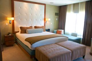 A view of a room at Hotel 32, a niche hotel, located on the top floor of the Monte Carlo on Wednesday, June 27, 2012.