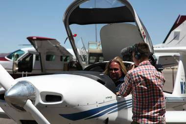 "After two days of filming the new PBS series ""The Aviators,"" hometown rocker Vince Neil has made his first runway takeoff as a pilot. Cameras are ..."
