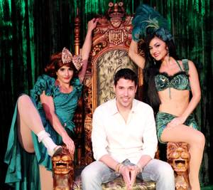 "Penny Pibbets, Frankie Moreno and Melody Sweets at ""Absinthe."""