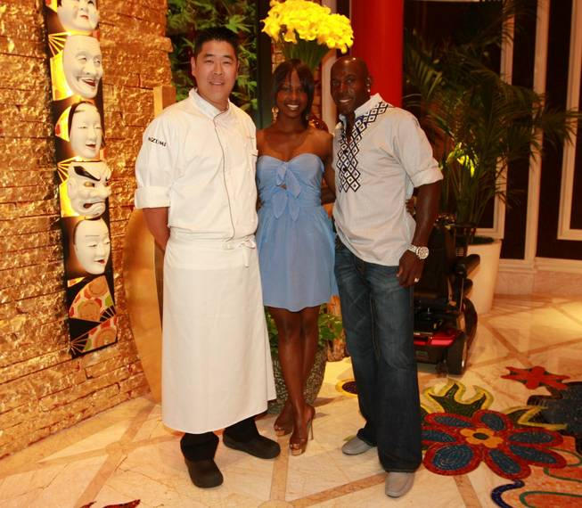 Executive chef Devin Hashimoto, Betina Driver and Donald Driver at ...