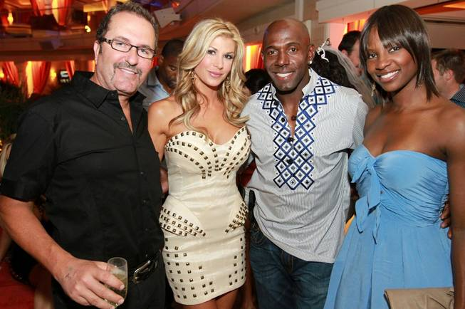 Jim Bellino, Alexis Bellino, Donald Driver and Betina Driver at ...