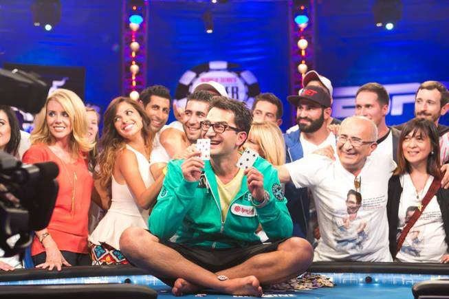 Antonio Esfandiari wins the $18 million Big One for One Drop prize at the World Series of Poker at the Rio on Tuesday, July 3, 2012.