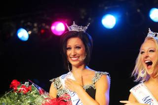 Randi Sundquist of Las Vegas is named Miss Nevada 2012 during the Miss Nevada and Miss Nevada's Outstanding Teen competition at the Casablanca Resort and Casino in Mesquite on Tuesday, July 3, 2012.