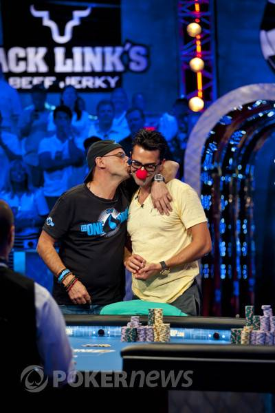 Guy Laliberte and Antonio Esfandiari during the Big One for ...