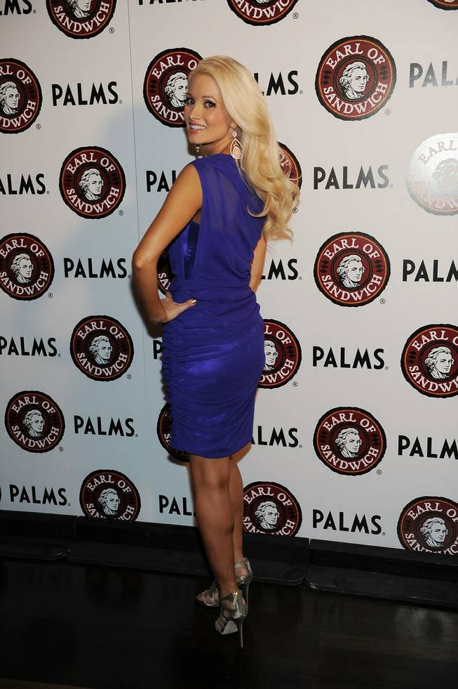 Holly Madison arrives at the Earl of Sandwich grand opening at the Palms on Monday, July 2, 2012.