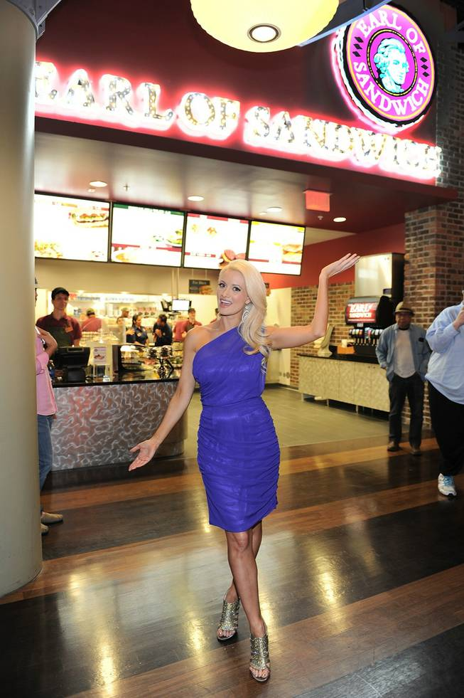 Holly Madison attends the Earl of Sandwich grand opening at the Palms on Monday, July 2, 2012.