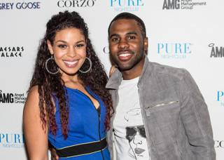 Jason Derulo, pictured here with girlfriend Jordin Sparks, hosts and performs at Venus Pool Club by day and Pure by night in Caesars Palace on Saturday, July 7, 2012.