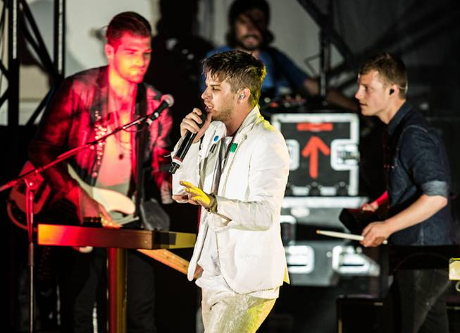 Foster the People performs at Boulevard Pool at The Cosmopolitan of Las Vegas on Saturday, July 7, 2012.