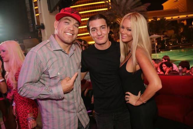 The 21st birthday celebration for Alesso, flanked here by Tito ...