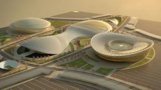 Artist rendering of the proposed Las Vegas National Sports Complex in Henderson.